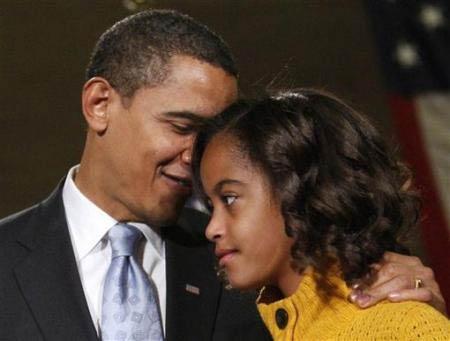 دختران اوباما (تصویری)