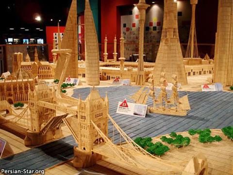 عکسهای شاهکارهای هنری با خلال دندان www.irannaz.com