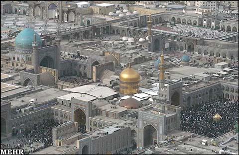 حرم امام رضا و مسجد گوهرشاد از بالا