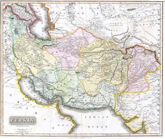 سرزمین های جدا شده از ایران در طول 196 سال گذشته