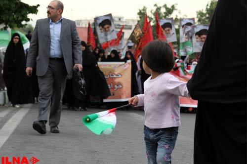 تصاویر: راهپیمایی حافظان حجاب در تهران