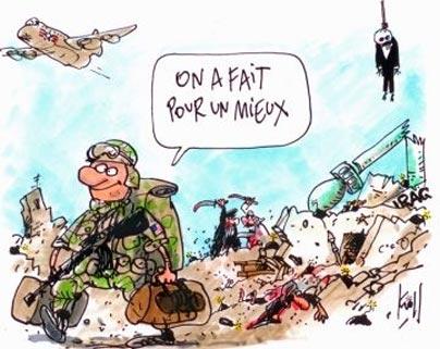 کاریکاتور با موضوع مهم نیت آدمه   سرباز آمریکایی