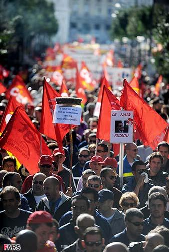 عکس   تصاویر تظاهرات ضد دولتي مردم فرانسه
