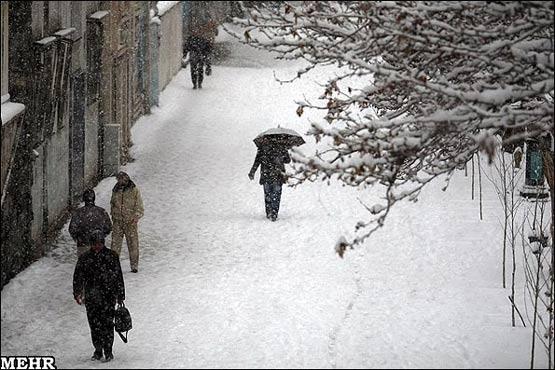 تصاویر: بارش برف در مشهد