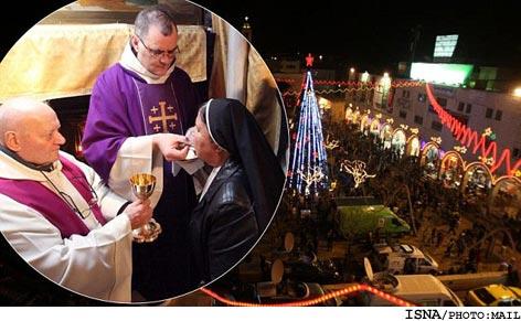 جشن ميلاد مسيح در بيت لحم + تصاوير