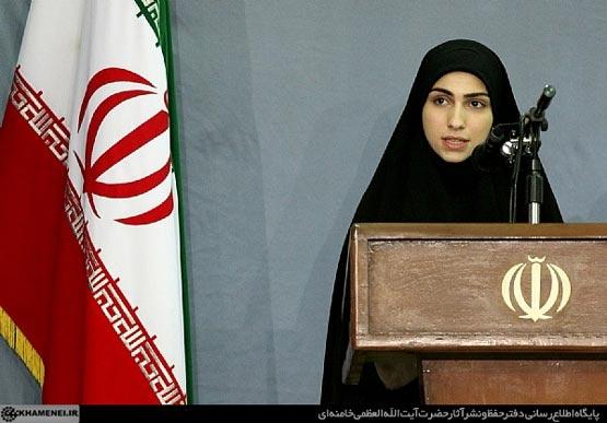 عکس: دختر شهید مغنیه در محضر امام خامنه ای