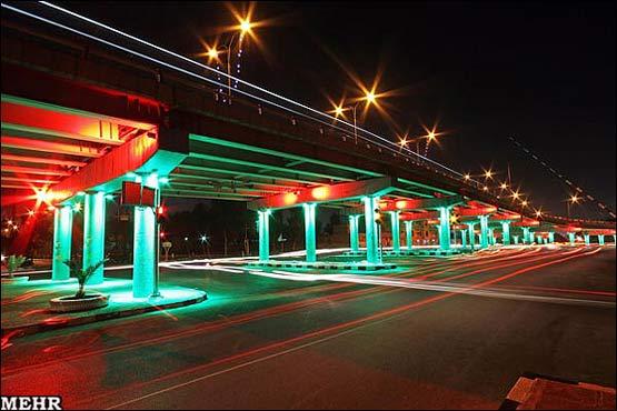نورپردازی جالب در پلهای اهواز