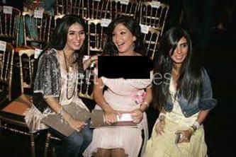 دختران بن لادن در کنار الیسا