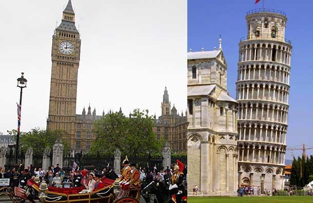 عکس   برج 100 متری ساعت لندن کج شد! + عکس