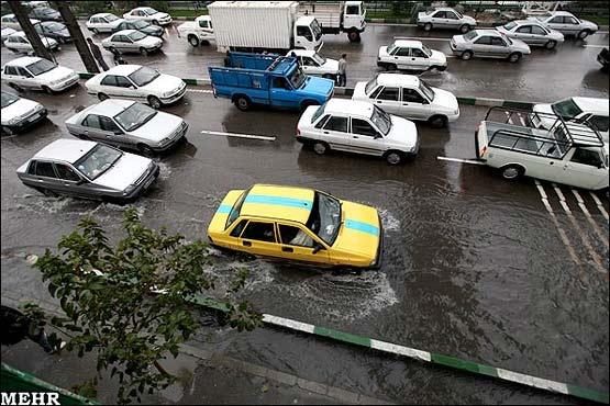 مرژانو - تصاویر: آبگرفتگی در معابر و خیابانهای تهران