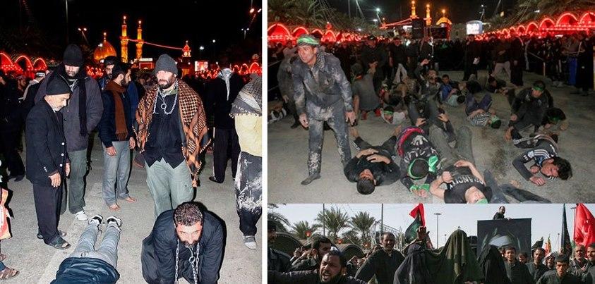 رفتار زشت یک عده مداح و شیعه نما در کربلا در شب اربعین