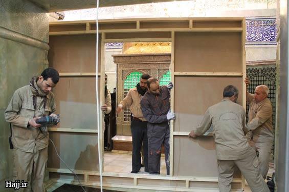 227659 325 - تصاویر: آغاز نصب ضريح جديد امام حسين(ع)