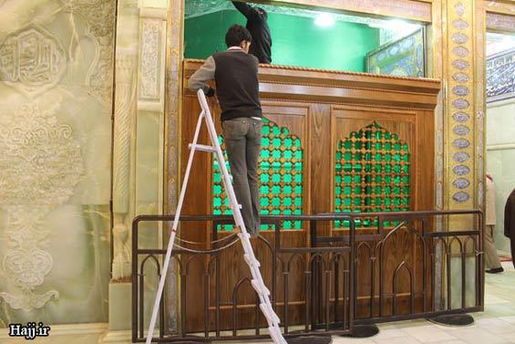 227662 279 - تصاویر: آغاز نصب ضريح جديد امام حسين(ع)