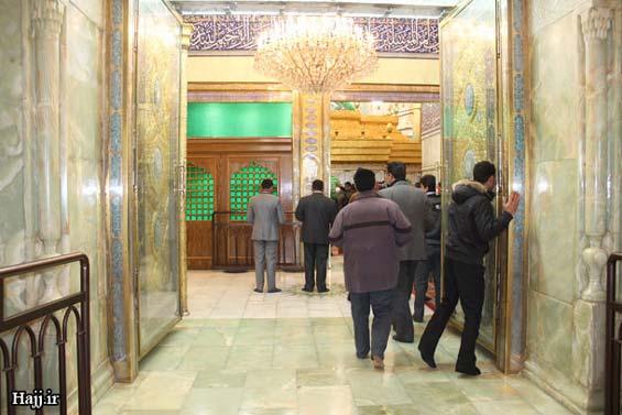 227664 882 - تصاویر: آغاز نصب ضريح جديد امام حسين(ع)