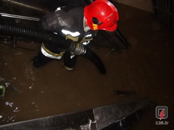 تصاویر: مترو از آب گرفتگی تا شستشو