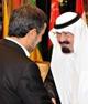 چرا احمدینژاد در کنار عبدالله نشست؟