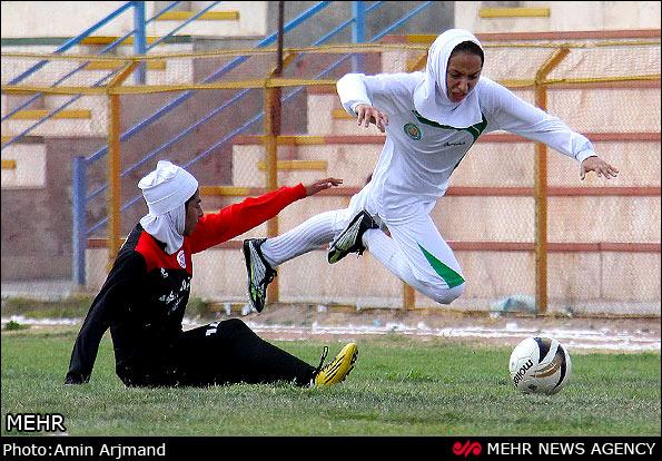 عکس: تکلی بد از یک زن فوتبالیست ایرانی