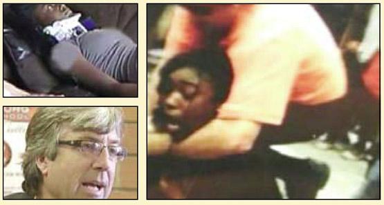 حمله معلم به یک دختر در کلاس درس