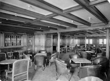 یکی از سالنهای اجتماعات طبقه دوم کشتی The New York Times Photo Archives/American Press Association