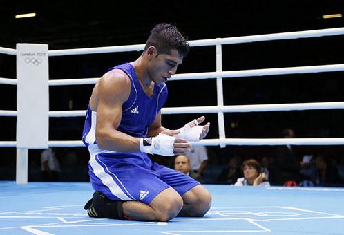 پیروزی مهدی طلوتی بوکسور تیم ملی ایران در المپیک 2012 لندن
