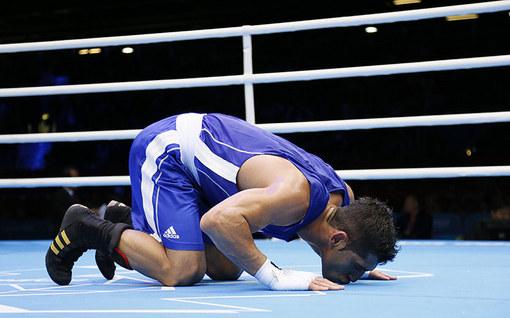 مهدی طلوتی دیگر بوکسر ایرانی دسته 64 کیلو بود که در دور نخست رقابت ها پیروز شد.
