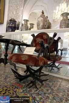 صندلی ساخته شده با شاخ گوزن بصورت یکپارچه