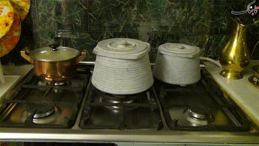 استفاده از ظروف سالم و سنتی به جای ظروف مضر و صنعتی در آشپزخانه منزلشان