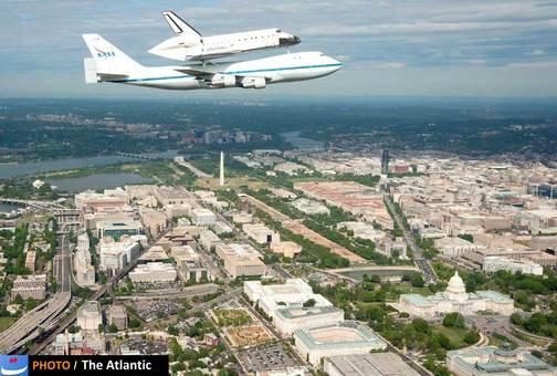 شاتل دیسکاوری سال گذشته بازنشسته شد و در سفرش برای انتقال به موزه تاریخ هوایی آمریکا به ایالت های مختلف این کشور سفر کرد.