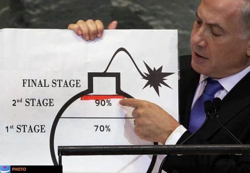این تصویر بیش از این که با نامی سیاسی شناخته شود، به عنوان تصویری فانتزی و طنز در وبسایتها و رسانههای دنیا منتشر شده و شناخته میشود که آن هم مربوط به سخنرانی نتانیاهو در مجمع عمومی سازمان ملل است؛ جایی که با ماژیک قرمز و روی نقاشی یک بمب، زمان نزدیک شدن ایران به توسعه بمب هستهای را نشان داد و البته خط مورد نظر خود را هم اشتباه کشید.