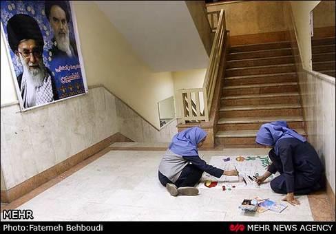 کاردستی بچه 5 ساله تصاویر: آذین بندی ایام 22 بهمن در مدارس