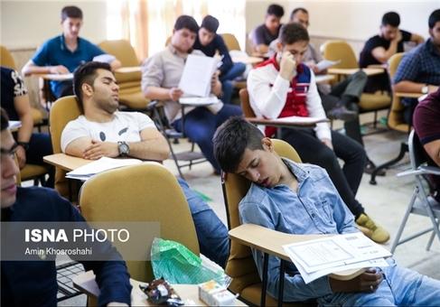 تصاویر: خواب راحت سر جلسه کنکور,خوابیدن در کنکور,چرت زدن در کنکور,خستگی در کنکور
