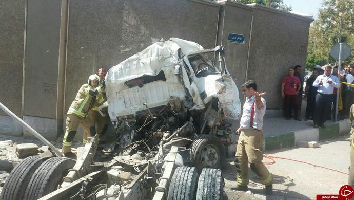حوادث واقعی حوادث تهران تصادف وحشتناک در ایران تصادف در تهران اخبار تصادف آجودانیه